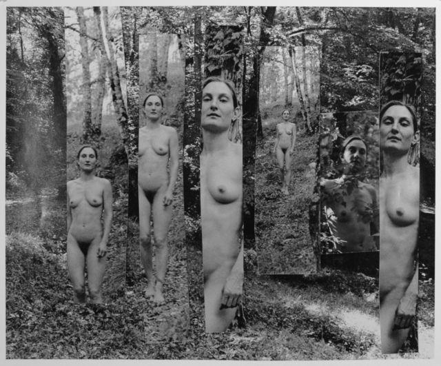 Saskia in a Tuscan Landscape (2011) by George Woodman, via Artsy