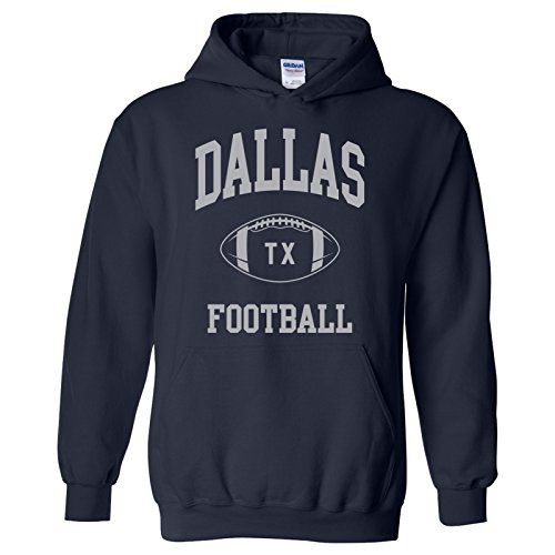 UGP Campus Apparel Dallas Classic Football Arch American Football Team Sports Hoodie - X-Large - Navy