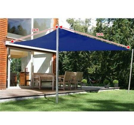 amazoncom frugah new 24 ft sun sail shade canopy outdoor patio garden navy - Sun Sail Shade