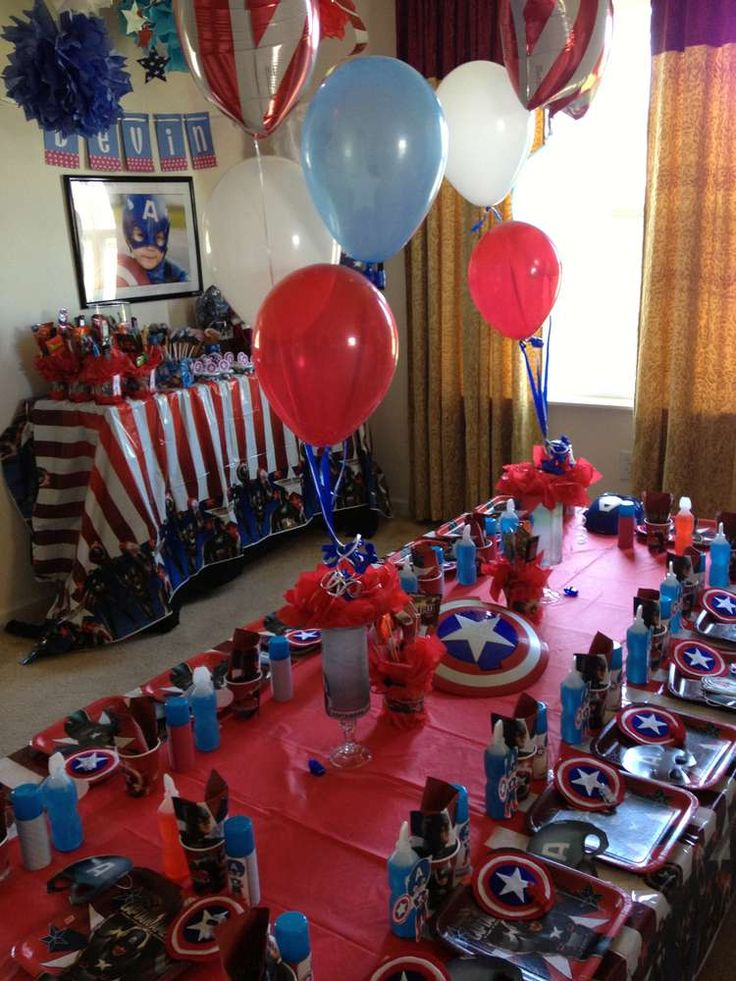 Captain America Birthday Party Ideas | Photo 2 of 18 | Catch My Party