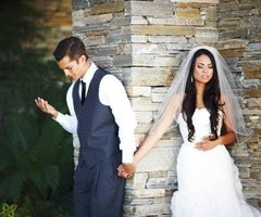 I wish I would have taken a picture like this for our wedding. #prayer