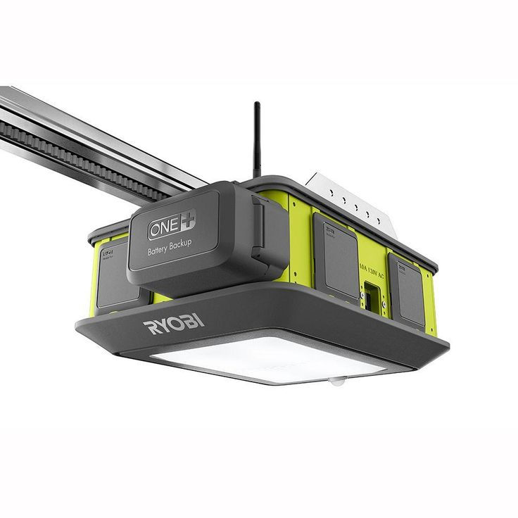 Ryobi Ultra-Quiet Garage Door Opener with Free Retractable Cord Reel Accessory-GD200-GDM330 - The Home Depot