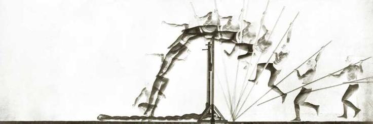 Digital Négatif de Etienne Jules Marey  - Saut à la perche - 1890
