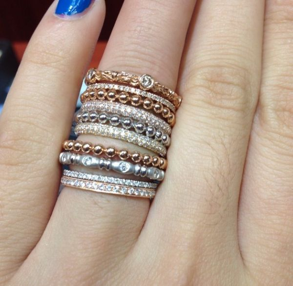 Custom Made Stackable Rings In 2019 Jewelry Jewelry