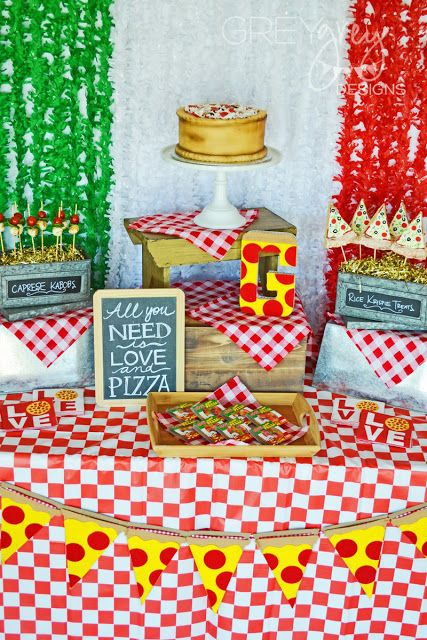 What is better than a good ole' pizza party?   Nothing!   A pizza party is a classic party theme for kids and adults alike.   But toda...
