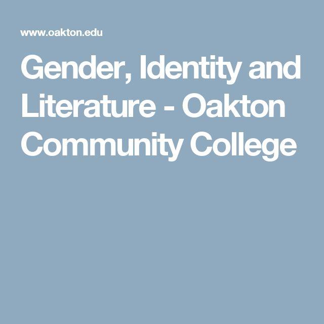 Gender, Identity and Literature - Oakton Community College