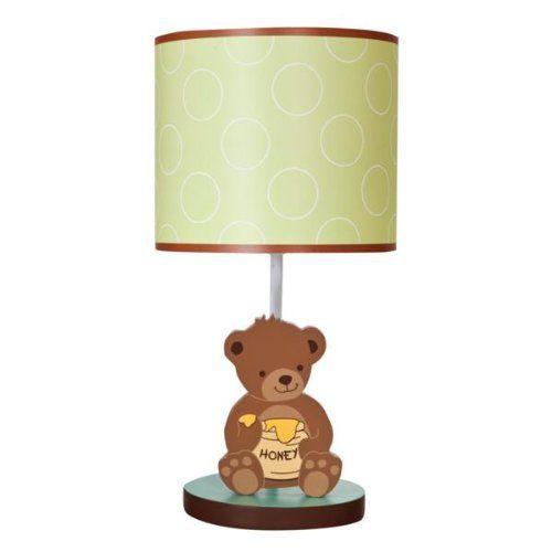 Lambs Ivy Lamp With Shade And Bulb Honey Bear