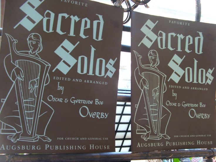Two SACRED SOLOS Music Books by lookonmytreasures on Etsy