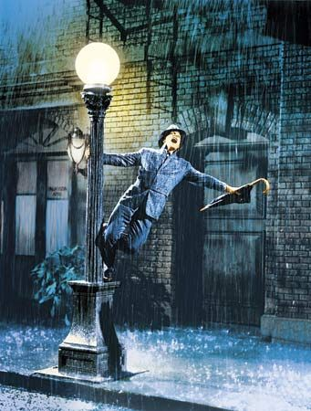 Singing in the rain. One of my favorite movies of all time. Especially when i'm down it makes me smile :)