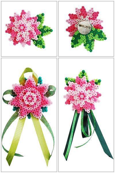 Flower ornaments perler beads