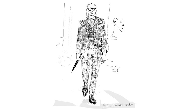 A beautiful illustration based of Joshua Kane Bespoke, courtesy of www.gq-magazine.co.uk