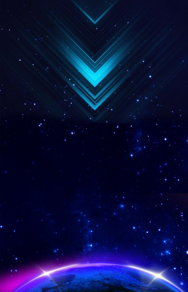 Technology Black Background Glowing Earth Starry