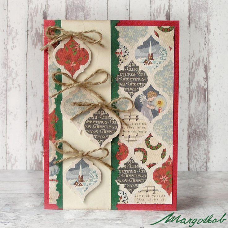 Vánoční+přání+s+baňkami+Přáníčko+z+papíru+velikost+a6.