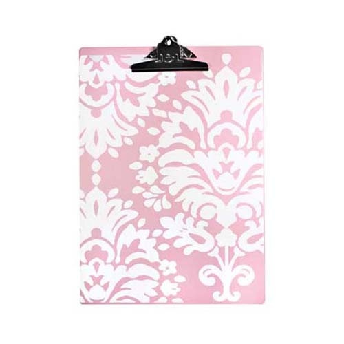 damask office accessories. love the pink damask clipboard office accessories k