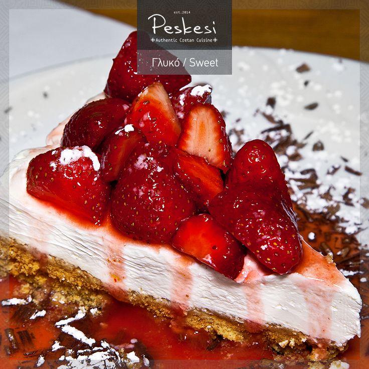 Το διάσημο Cheesecake... αλά κρητικά! Το γλυκό που βρίσκεται στην κορυφή των προτιμήσεων σας και έχει ξετρελάνει μικρούς και μεγάλους! Εκτός από τη μοναδική του γεύση, η διαφορά του με τα υπόλοιπα Cheesecake είναι στο ότι η κρέμα του παράγεται από κρητικά τυριά, ενώ σαν βάση, αντί για μπισκότο, χρησιμοποιούμε τον ντάκο!