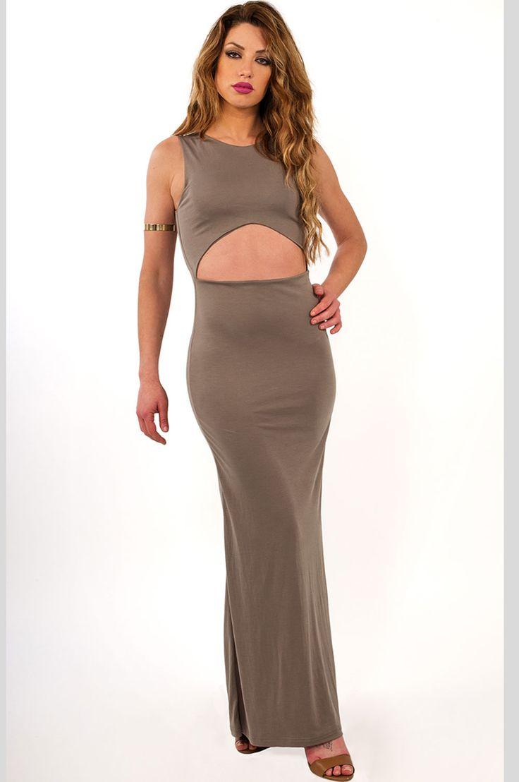 Γυναικεία ρούχα : Φόρεμα cut out ΧΑΚΊ