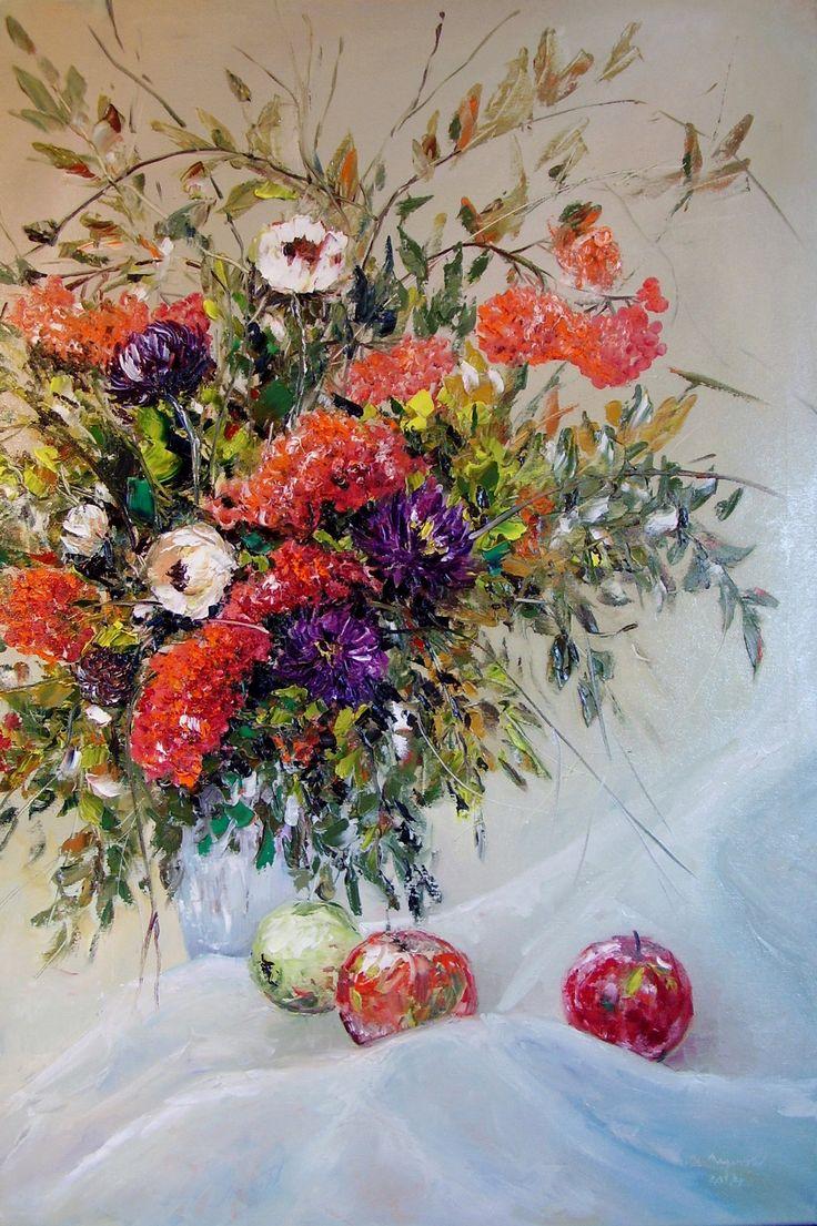 Vône jesene olejomaľba na bavlnenom plátne, blind rám, nie je nutné rámovanie použité profesionálne materiály 90x60 cm