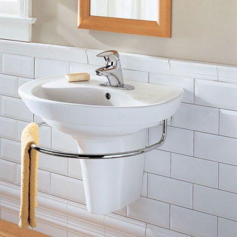 Best 25 wall mounted sink ideas on pinterest bathroom for Floating pedestal sink