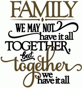 Silhouette Online Store: family together we have it all - vinyl phrase