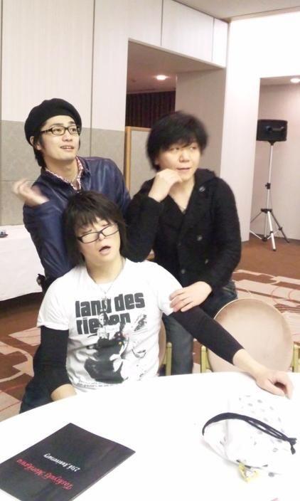 福山 潤 Fukuyama Jun, 杉山 紀彰 Sugiyama Noriaki & 森川 智之 Morikawa Toshiyuki (sitting) #seiyuu