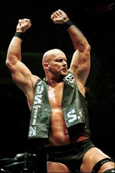 """Stone Cold"" Steve Austin. He's easy on the eyes too;)"