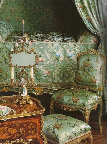 Madame de Pompadour's rooms at Versailles. That's some French inspiration for sure!