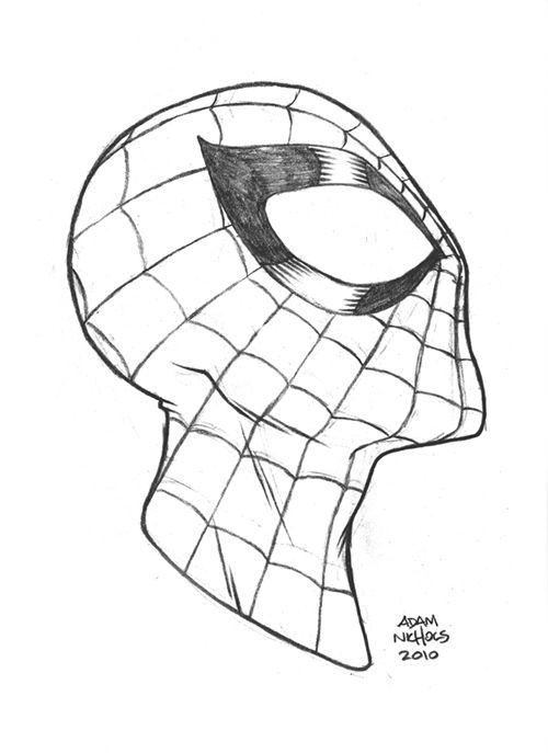 Spiderman Face Line Drawing : Best images about spider man drawings on pinterest