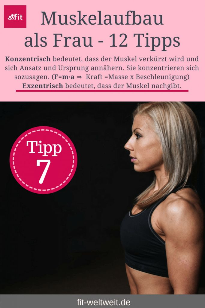 Muskelaufbau als Frau Tipp 7 - Muskelkater - Frauen Tipps ...