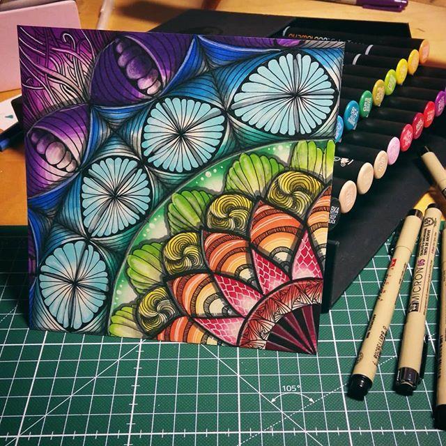 Beautiful Zen Artwork Created By Selandrian Using Their Chameleon Pens Chameleonpens Pen Marker Alcoholmarkers Marke Zenmalerei Marker Kunst Stift Kunst