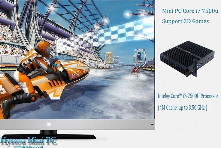 Hystou FMP05B 3.5GHz Intel Core I7-7500U 8GB/128GB HDMI WIFI DP Port 4K Fanless Mini PC