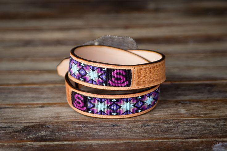 -Morning Star-  Custom Beaded Belts by Busted K www.bustedkbeadwork.com