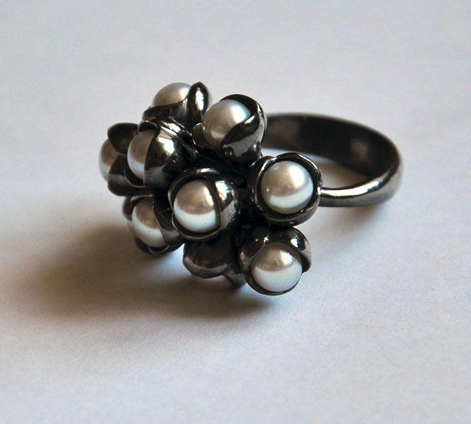 кольцо Жемчужный букет