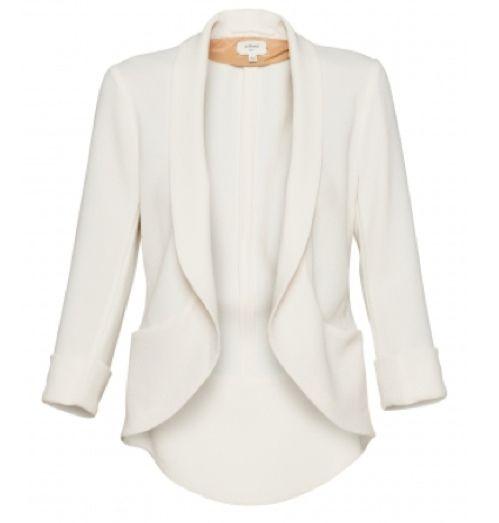 Love this - Blazer Wilfred Shrunken ChevalierLight Pink Blazers, Fashion, White Blazers, Style, Clothing, Closets, Chevalier Blazers, Shrunken Chevalier, Wear