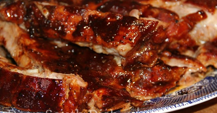 Deep South Dish: Fall Off the Bone Oven Baked Pork Spareribs with Sweet & Spicy Homemade Barbecue Sauce