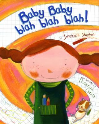 Baby Baby Blah Blah Blah! by Francesca Chessa.  (Holiday House, 2009).  When her parents tell her that they are expecting a baby, Emily sets to work on a list of pros and cons.
