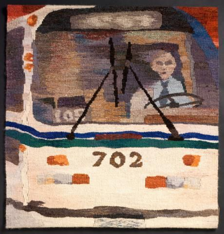Bus Driver--tapestry by Ruth Manning