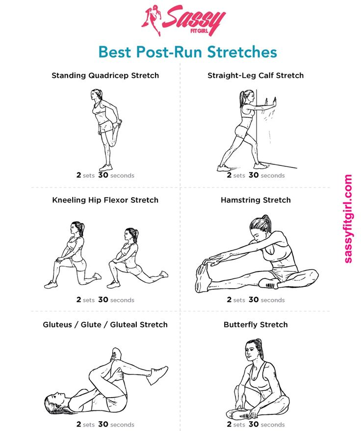 """paintitbright: """" sassyfitblog: """" Best Post-Run Stretches Stretching after a run is very important. It helps relieve tension and soreness, increases flexibility and helps prevents injury. Do these 6..."""