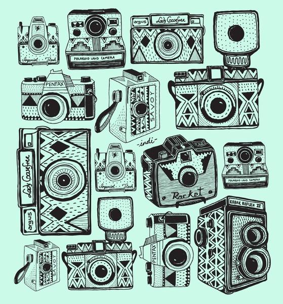 Vintage Cameras Art Print by Indi Maverick