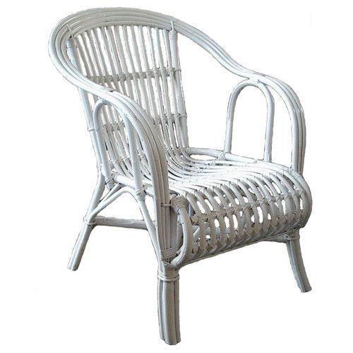 Cobra Cane White OZ Split Rattan Chair