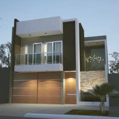 Moderno Objeto entre Medianeras: Casas de estilo moderno por FILIPPIS/DIP - DISEÑO Y CONSTRUCCION