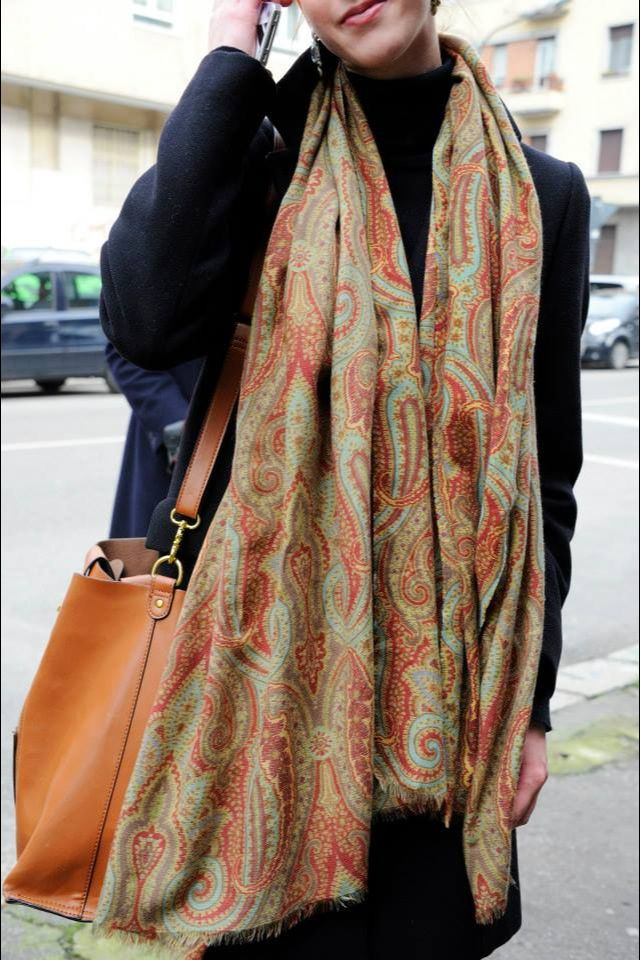 Etro Autum/ Winter 14/15 Love the scarf....