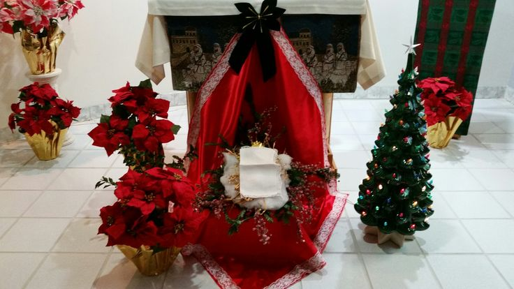 Chapel is decorated and ready.