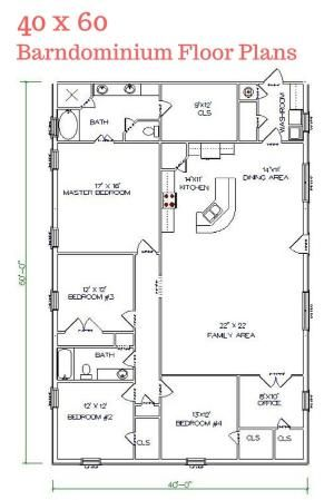 262 best barndominium floor plans images on pinterest | barndominium
