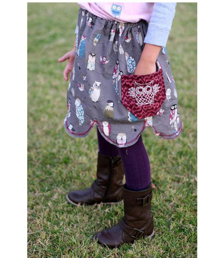 女の子用のおしゃれなスカートを作る方法