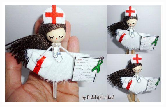 Nurse Brooch  jewelry doll by Delafelicidad on Etsy