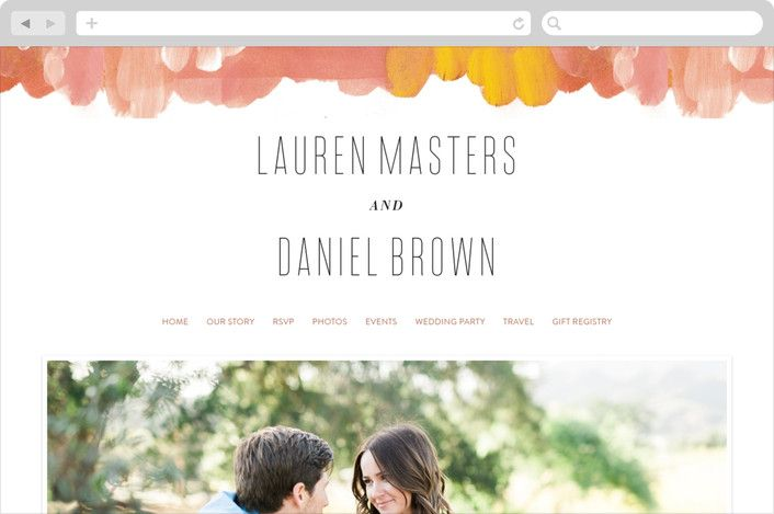 Gallery Abstract Art Wedding Websites In 2020 Wedding Website Wedding Abstract