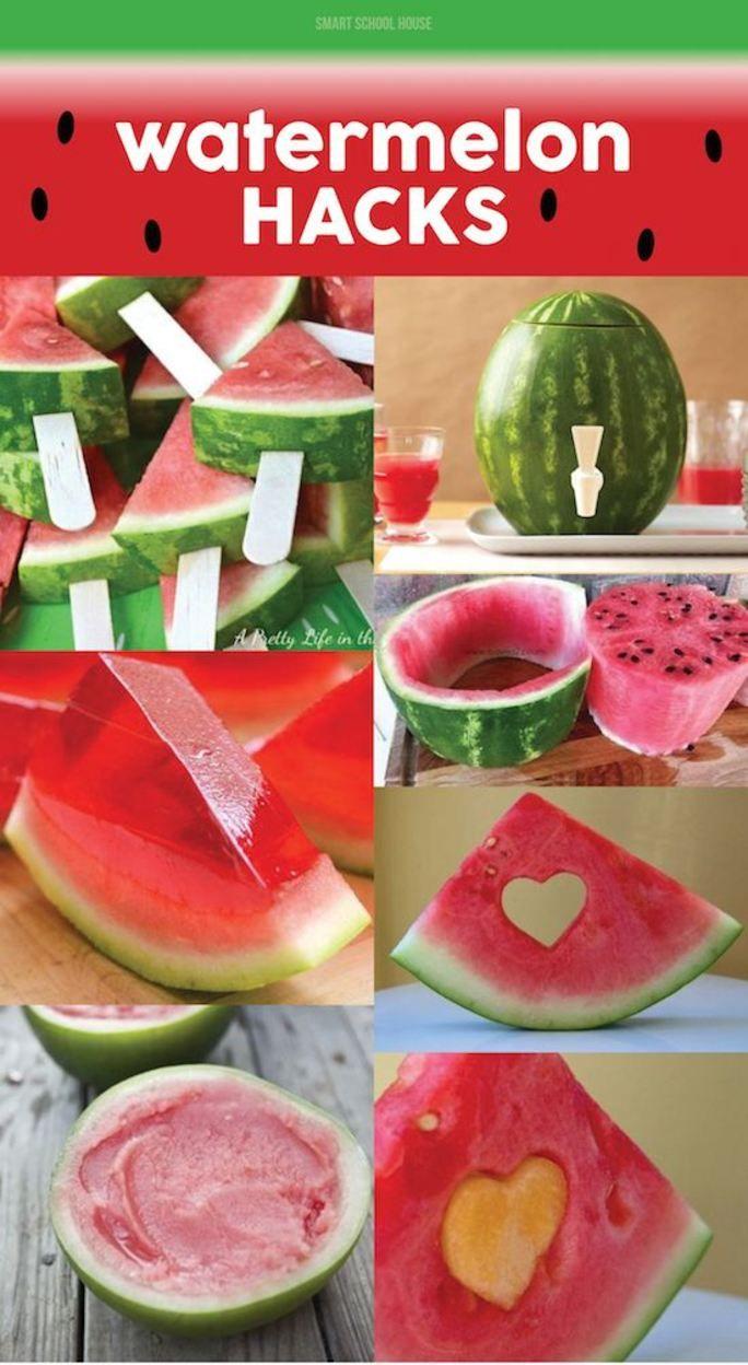 Watermelon Hacks! Creative ways for how to cut a watermelon. Looking for a fun DIY summer recipe idea?