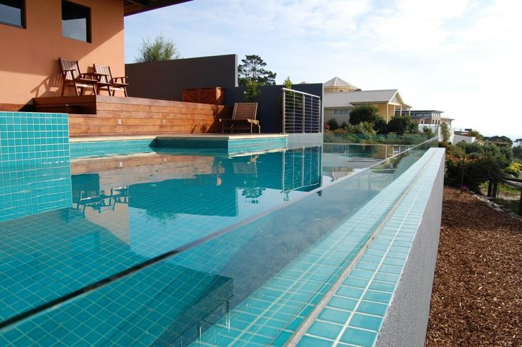 swimming pool Nice Swimming Pool Inspiration With Open Wide Terrace And Wooden Floor At Courtyard How to Determine the Great Pool Builders