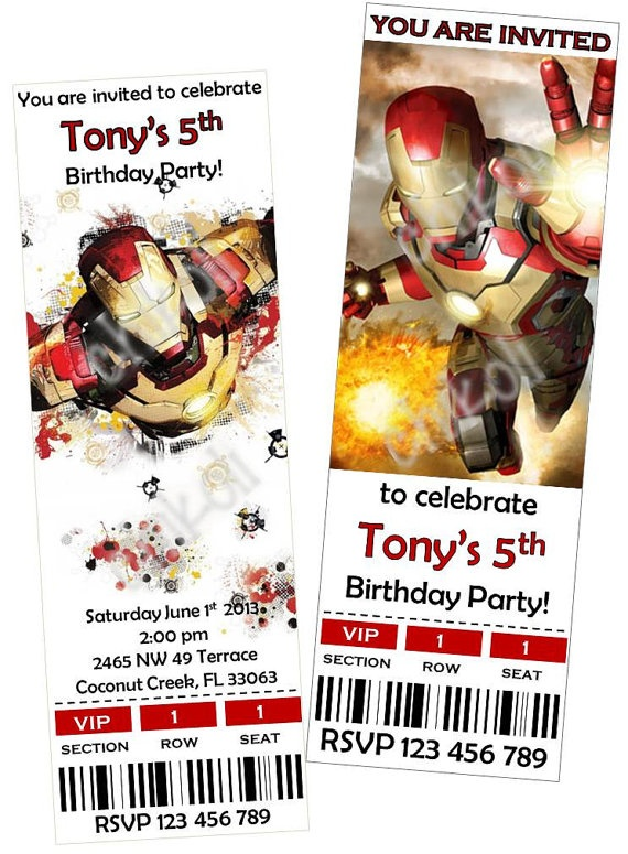 28 best iron man images on pinterest iron man anniversary parties iron man birthday party invitations thank you cards by chikoli 800 filmwisefo