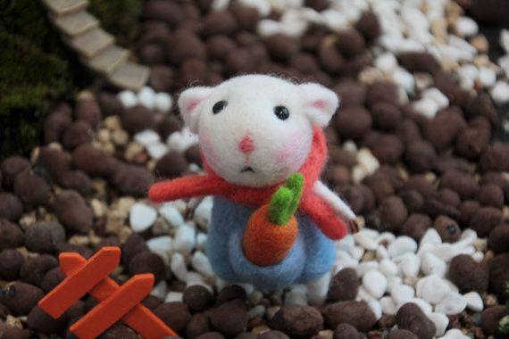 Needle felted kawaii animal cute animal rat mouse wool felt felt doll felt craft felt doll needle felting felt toy